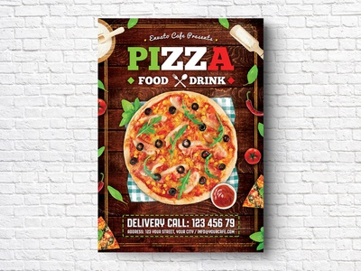 Pizza Flyer restaurant flyer restaurant psd pizzeria pizza party pizza menu pizza flyer pizza offers menu flyer menu italian pizza italian food food fast food discount delivery delicious cafe flyer cafe