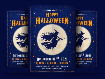 Halloween Event Flyer october night horror holiday haunted halloween poster halloween party halloween flyer halloween ghost flyer event dark creepy costume party costume club bundle blood dribbbleweeklywarmup