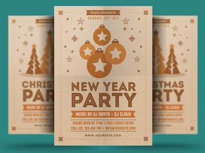 Christmas & New Year Party Flyer