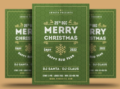 Merry Christmas & New Year Flyer Template