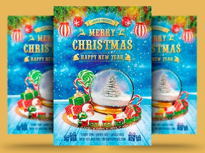 Christmas New Year Flyer