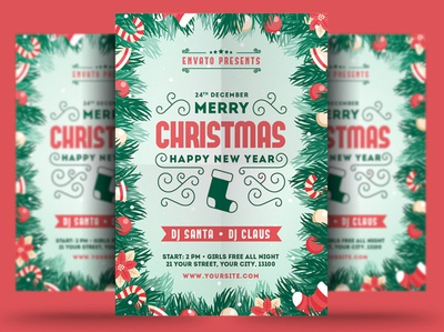 Merry Christmas New Year Flyer