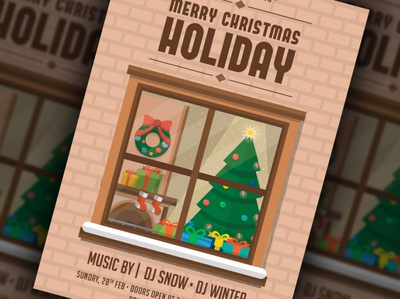 Merry Christmas Holiday Flyer Template