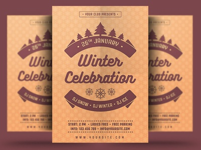Winter Celebration Flyer winter festival poster print winter party flyer new year christmas flyer christmas event winter party holiday flyer winter holiday flyer winter flyer winter holiday snow winter template psd flyer holiday