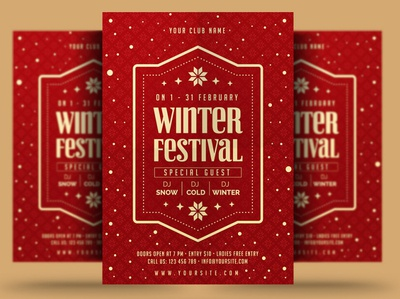 Winter Festival Flyer winter festival poster print winter party flyer new year christmas flyer christmas trips event winter party holiday flyer winter holiday flyer winter flyer winter holiday snow winter template psd flyer holiday
