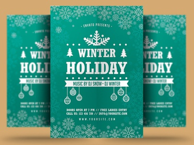 Winter Holiday Flyer winter festival poster print winter party flyer new year christmas flyer christmas trips event winter party holiday flyer winter holiday flyer winter flyer winter holiday snow winter template psd flyer holiday