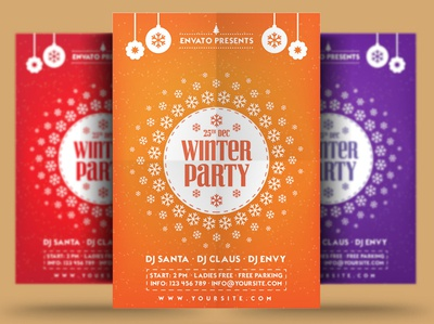 Winter winter festival poster print winter party flyer new year christmas flyer christmas trips event winter party holiday flyer winter holiday flyer winter flyer winter holiday snow winter template psd flyer holiday