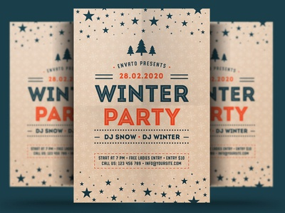 Winter Flyer winter festival poster print winter party flyer new year christmas flyer christmas trips event winter party holiday flyer winter holiday flyer winter flyer winter holiday snow winter template psd flyer holiday