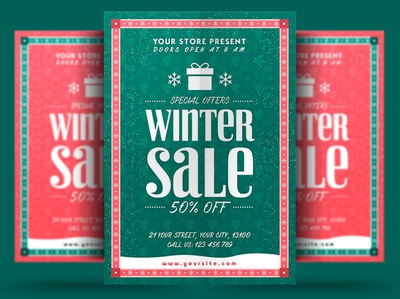 Winter Sale Flyer winter festival poster print winter party flyer new year christmas flyer christmas trips event winter party holiday flyer winter holiday flyer winter flyer winter holiday snow winter template psd flyer holiday