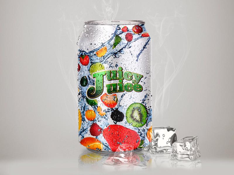 Juice Drink juice drink weeklywarmup warmup mockup label can energy drinks drinks drink dribbbleweeklywarmup design carbonated beverage can