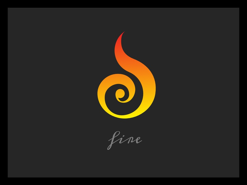 Fire illustration sacred geometry logo icon elements design branding alchemy