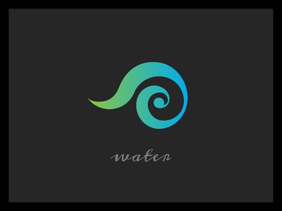 Water minimal logo sacred geometry illustration icon elements design branding alchemy