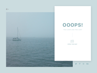 Daily UI 008 - 404 Page