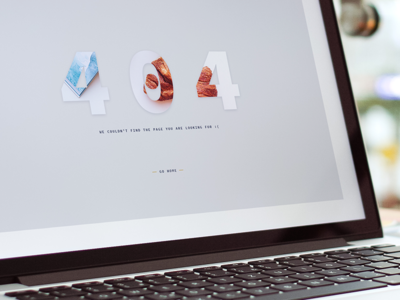 404 Page - Design screenshot