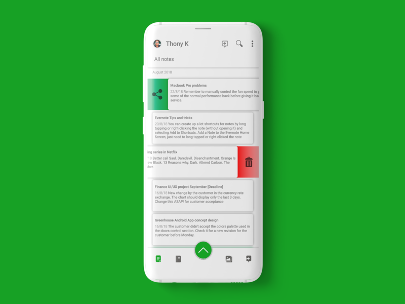 Evernote Android App | Redesign by Thony on Dribbble
