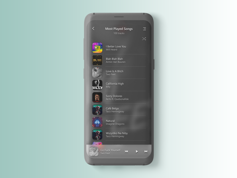 Music App player - Android