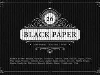 26 Black Paper Texture Backgrounds