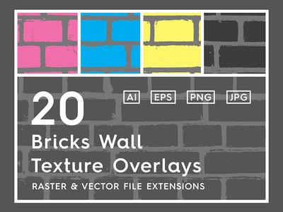 20 Bricks Wall Texture Overlays Header Behance Copy