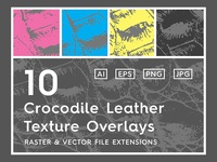 10 Crocodile Leather Texture Overlays