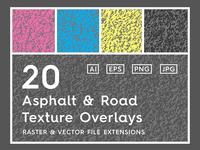 20 Asphalt & Road Texture Overlays