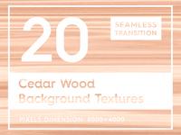 20 Cedar Wood Seamless Textures