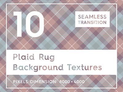 10 Plaid Rug Background Textures