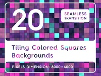 20 Tiling Colored Squares Background