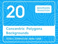 Concentric Polygons Backgrounds