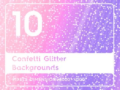 10 Confetti Glitter Background