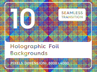 10 Holographic Foil Backgrounds