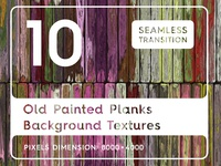 10 Old Painted Planks Background Textures
