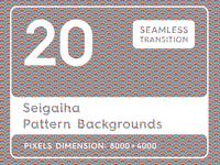 20 Seigaiha Background Pattern