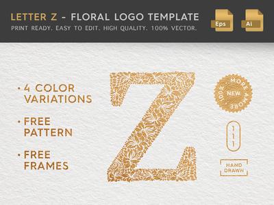 Floral Letter Z Logo