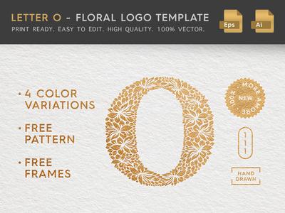 Floral Letter O Logo