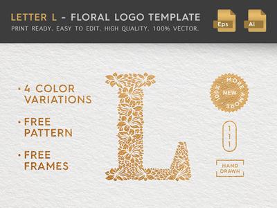 Floral Letter L Logo