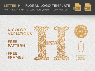 Floral Letter H Logo