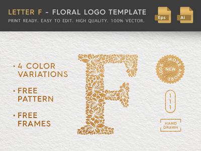 Floral Letter F Logo