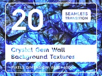 20 Crystal Gem Wall Background Textures