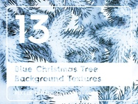 13 Blue Christmas Tree Background Textures