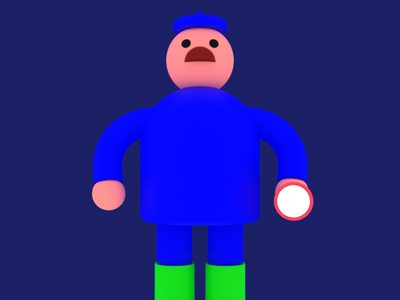 The Farmer character illustration 3d