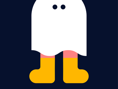 Sheet Ghost games design spooky bold character illustration 2d game orchard