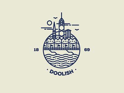 My home town. douglas hometown homage logo design logo