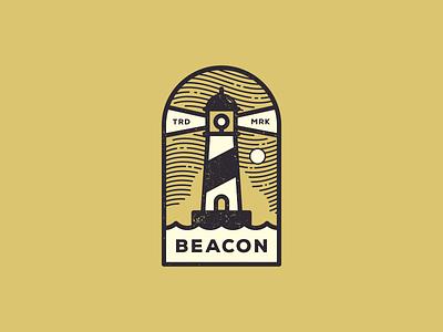 Beacon Lighthouse Logo beacon lighthouse sky light night waves sea logo