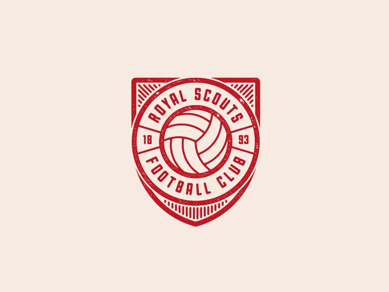 Royal Scouts Football Club Logo shield badge royal scouts club soccer football logo