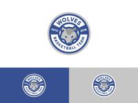Wolves Basketball Team Logo