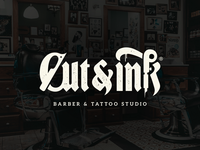 Cut&Ink - Barber & tattoo Studio Logo