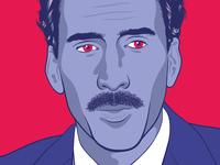 Nicolas Cage Illustration