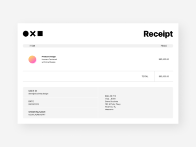 Receipt design dailyui ui