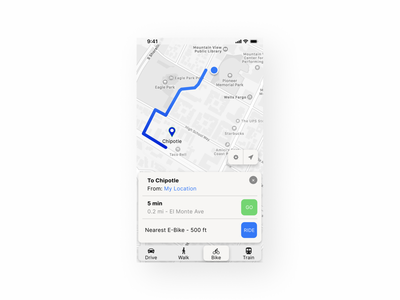 Location Tracker design ui dailyui