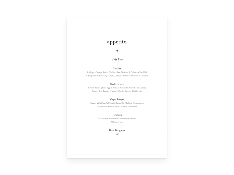 Appetito 02 – Fancy Pants typography visual design graphic design